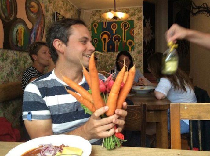 Freelancer a vegan Pavel Ovesný.